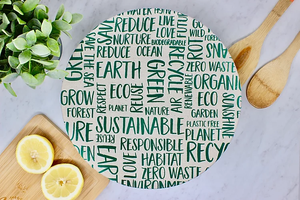 "Large Bowl Cover Waxed (10"") - Your Green Kitchen - LittlePlasticFootprint"