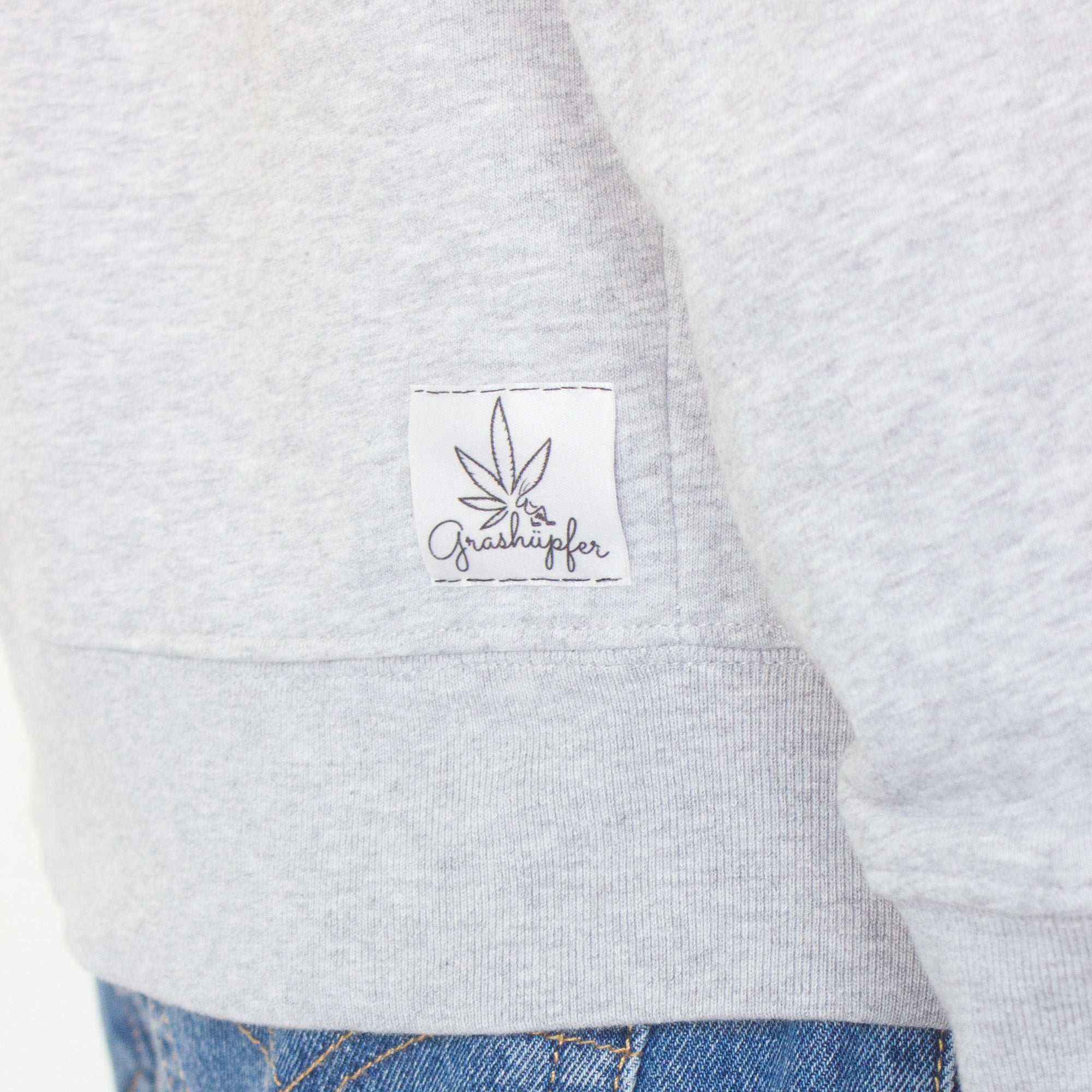 "Grashüpfer Sweatshirt ""stoned grey"""