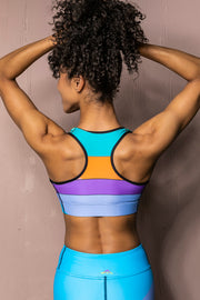 Pyramid racerback sports bra