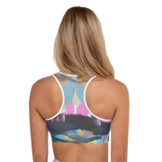 Mesozoic Bloom racerback sports bra