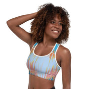 Distortion sports bra