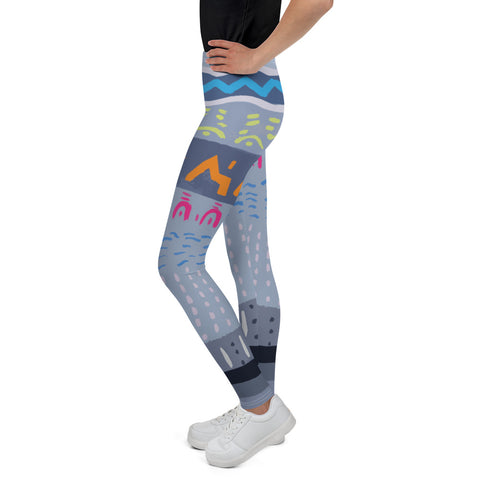 Hieroglyph youth athleisure yoga pant unisex comfortable breathable and moisture wicking, printed with premium dyes