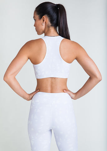 Lattice stone racerback sports bra