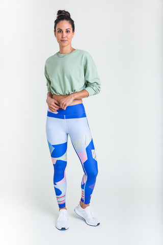 The Techi athleisure legging by Wear AM ankle and mid calf length