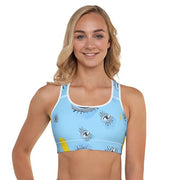 Lemon Eyes racerback sports bra