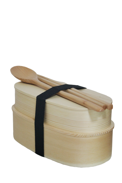 Japanese wooden bento box set -thehiatuslabel