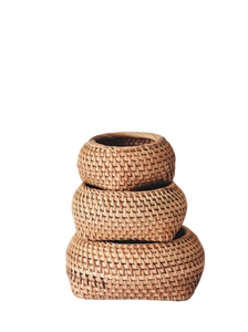 Rattan holder container -hiatushome
