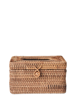 Rattan tissue holder - thehiatuslabel