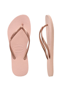 Havaianas Kids Slim Metallic Ballet Rose