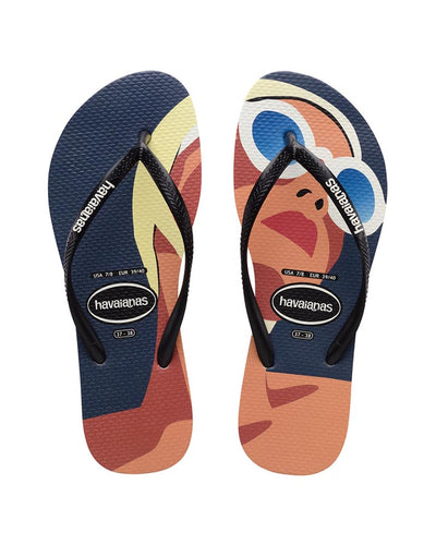 Havaianas Slim Faces Riviera Black/Black/White