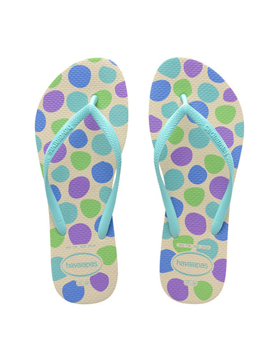 Havaianas Kids Slim Retro Biege Stra/Ice Blue