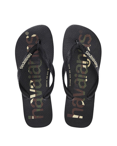 Havaianas Kids Top Logo Mania Black/Black/White