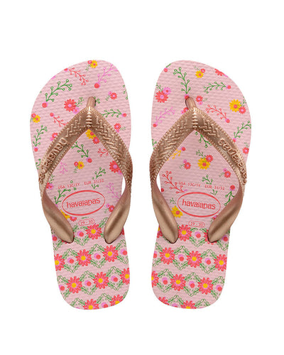 Havaianas Kids Flores Crystal Rose/Rose Gold