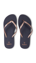 Classic Navy/Gold Thongs