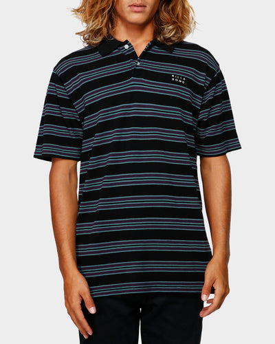 Die Cut Stripe Polo