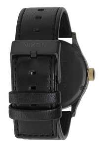 Nixon The Sentry Leather Matte Black/Gold