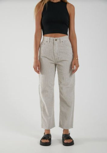 Shelby Textured Corduroy High Waist Wide Leg Pant