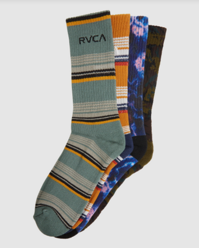 RVCA Seasonal Sock 4 Pack