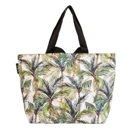 Kollab Poly Shopper Tote Green Palm