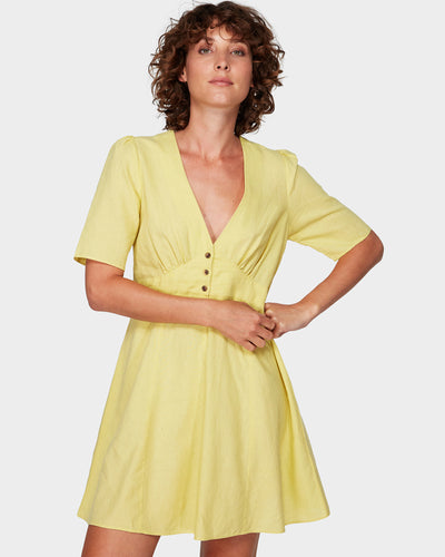 Lemon Crane Dress