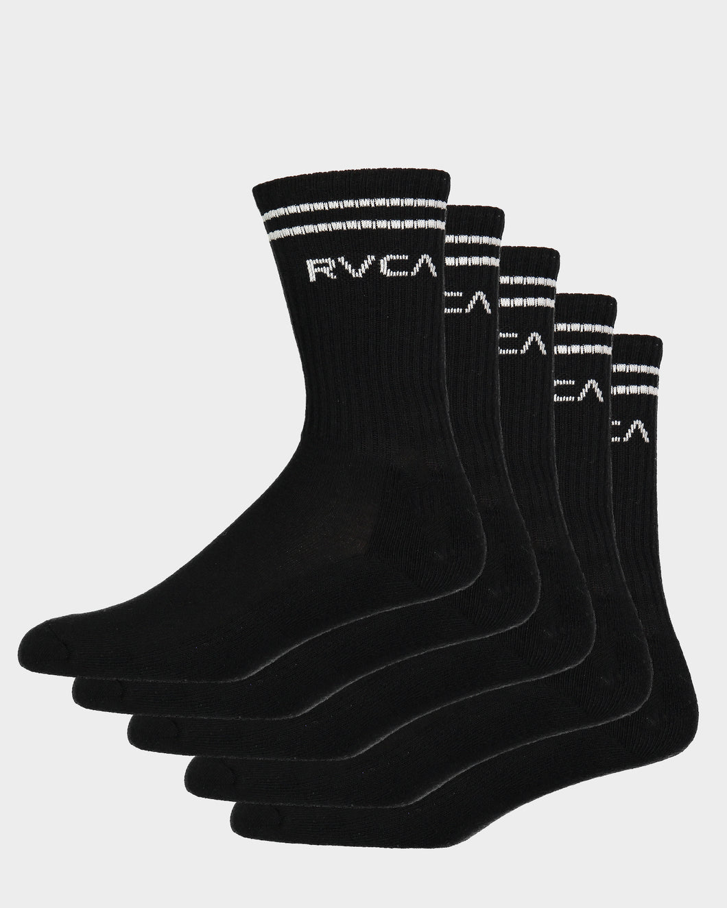 RVCA Union Sock 111 Black - 5 Pack