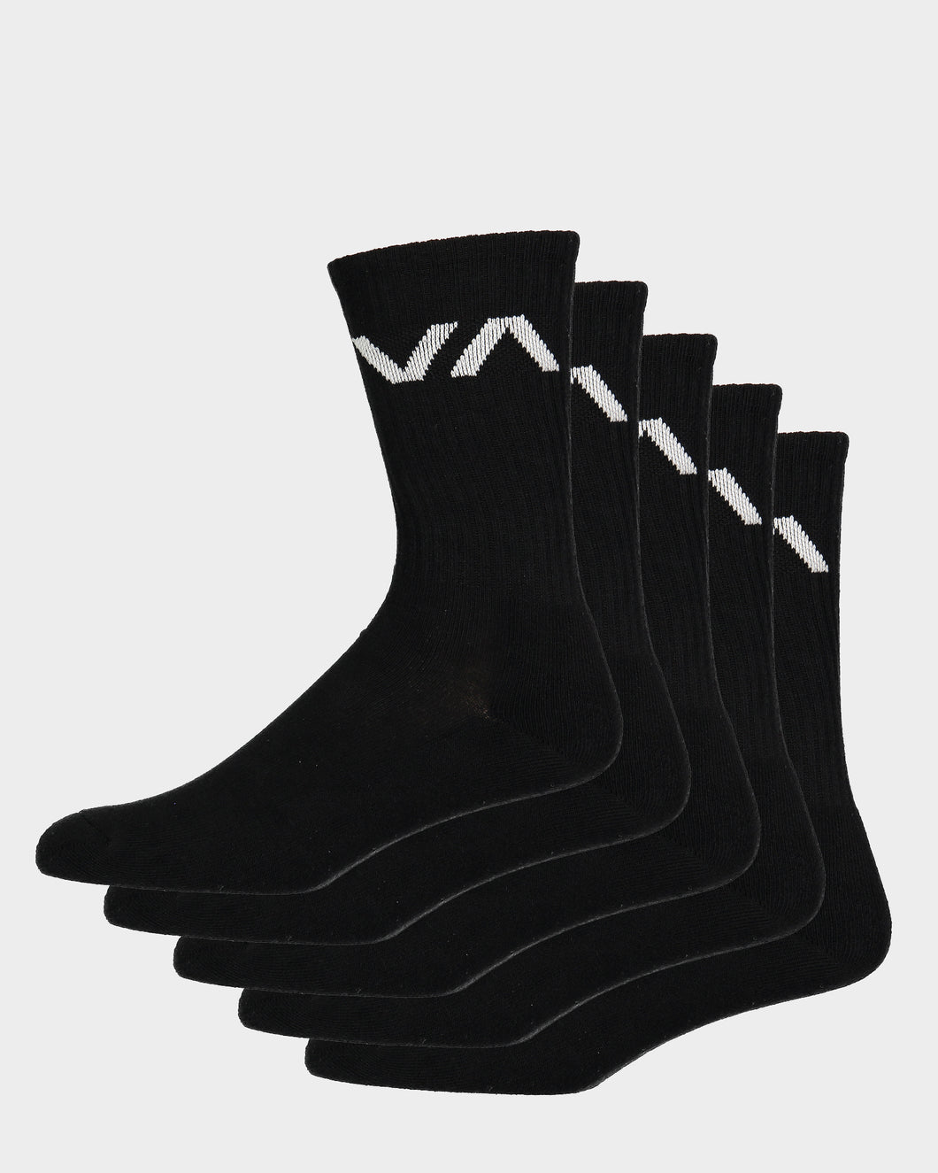 RVCA VA Sport Sock Black - 5 Pack