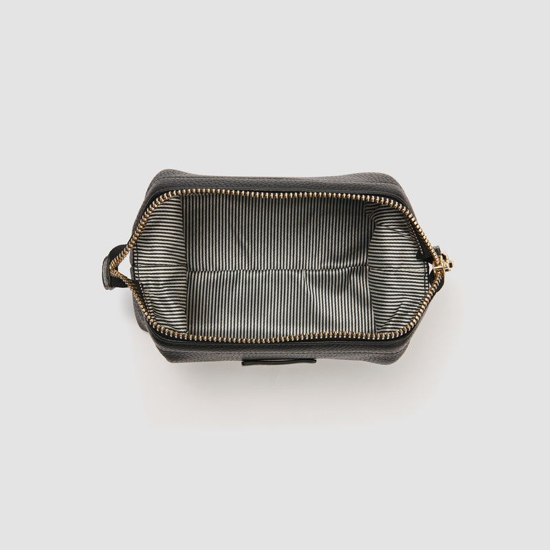 SYLVIE BEAUTY BAG - BLACK