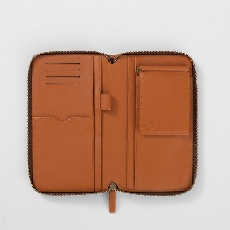 BURTON TRAVEL WALLET - TAN