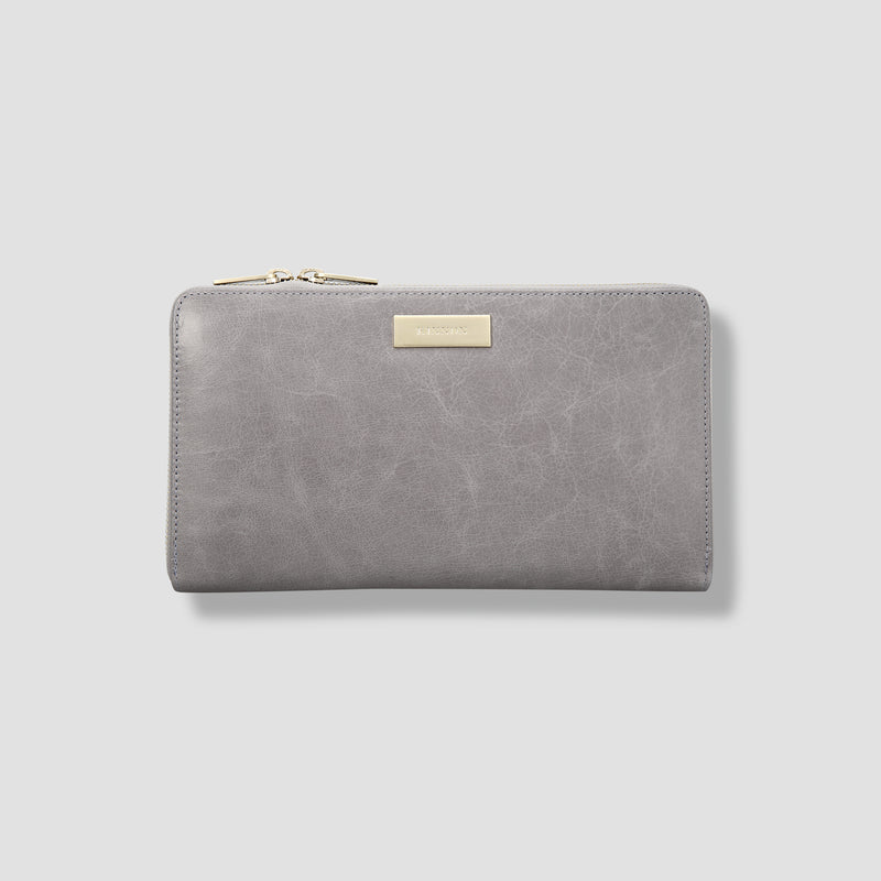 BIRD TRAVEL WALLET - GREY