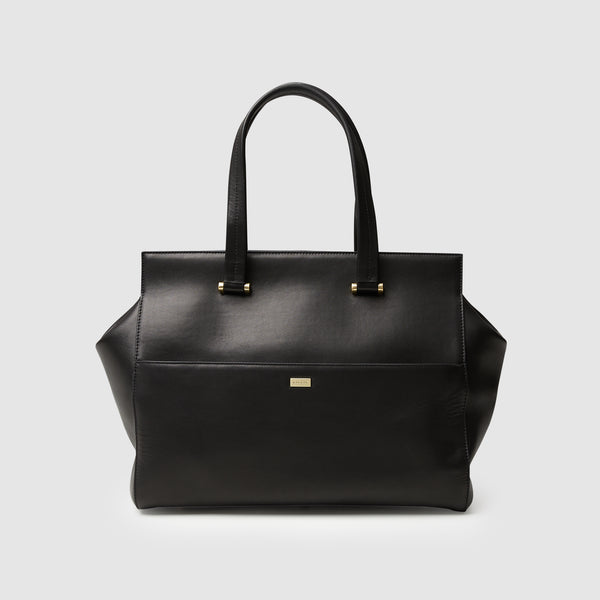 KINGSLEY CARRYALL + LAPTOP BAG - BLACK