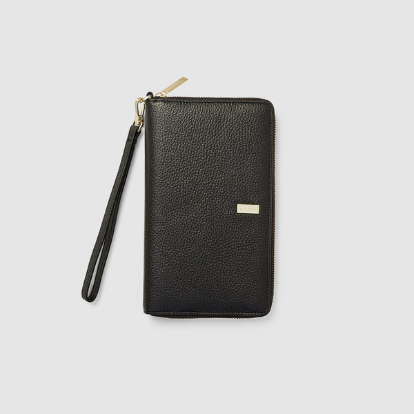 HEMINGWAY TRAVEL WALLET - BLACK (WOMENS)