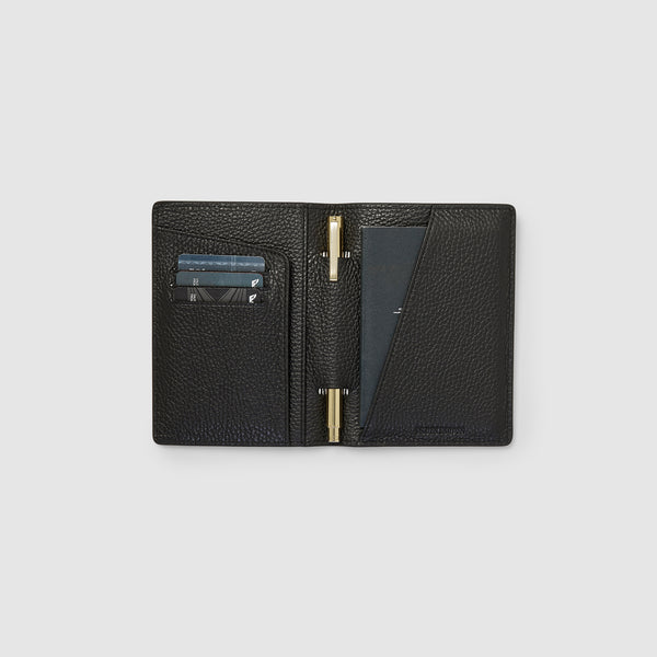 EARLE PASSPORT HOLDER - BLACK