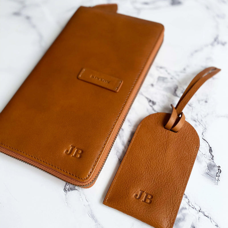 HEMINGWAY TRAVEL WALLET - VINTAGE TAN