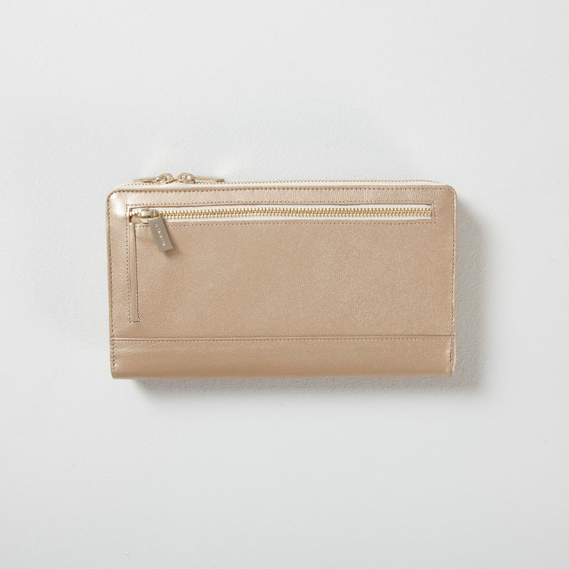 BIRD TRAVEL WALLET - GOLD