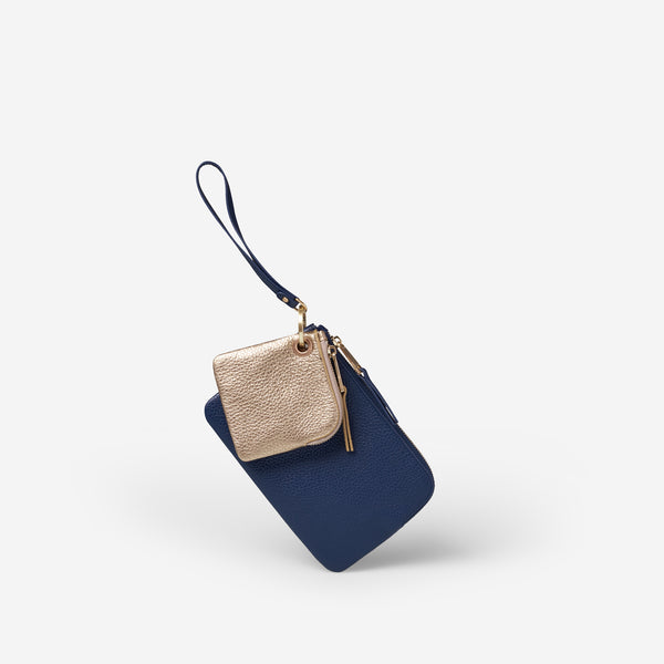 EADIE CLUTCH - NAVY/GOLD