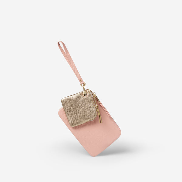 EADIE CLUTCH - BLUSH/GOLD