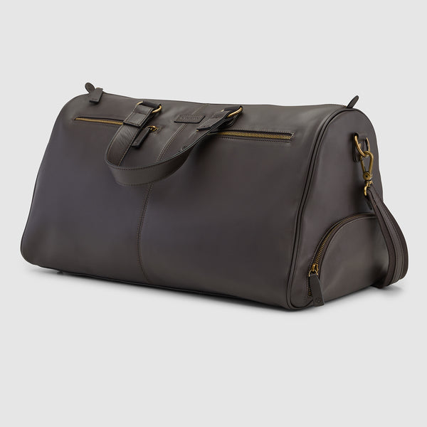 OXLEY OVERNIGHT BAG - CHOCOLATE