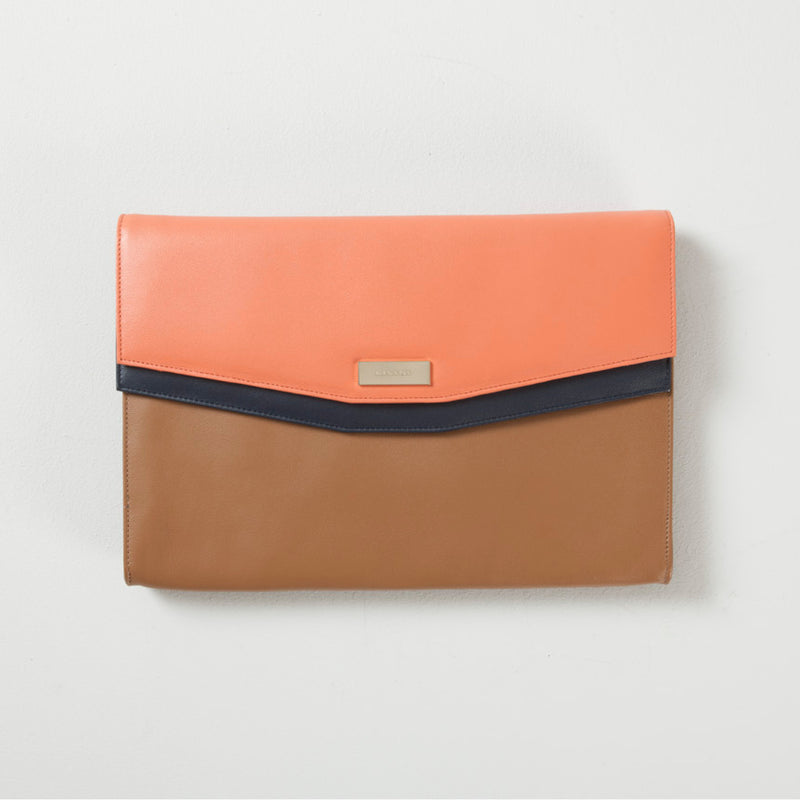 STANHOPE BUSINESS CLUTCH - CARAMEL
