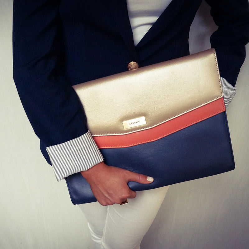 STANHOPE BUSINESS CLUTCH - NAVY