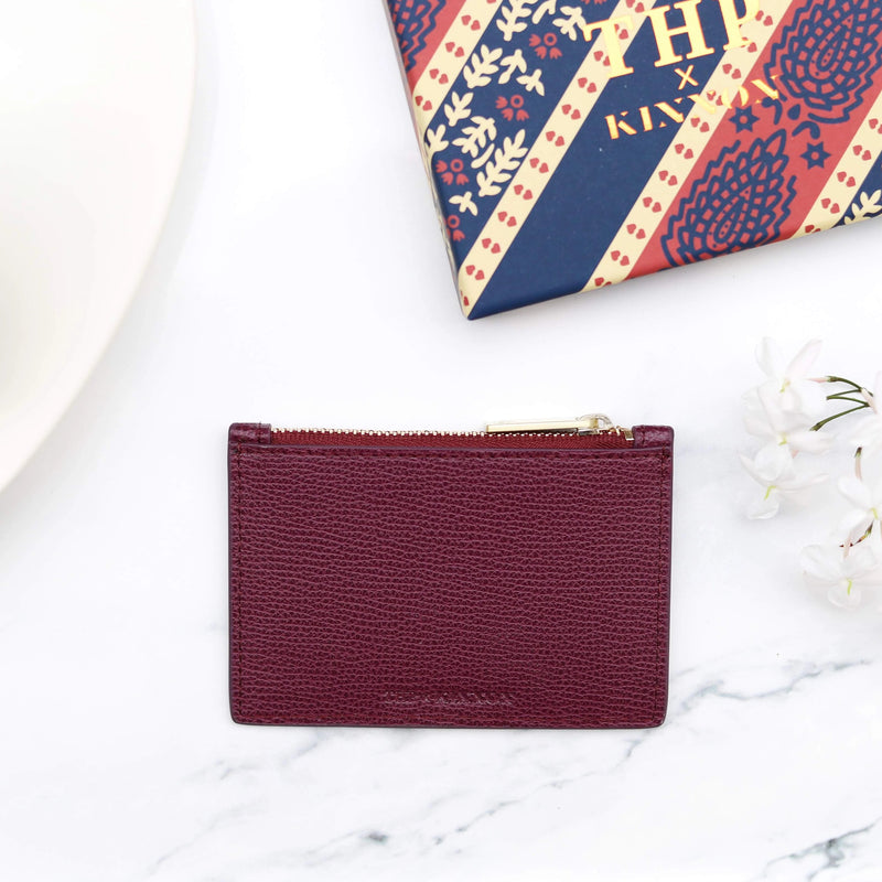 THP X KINNON CARD HOLDER - PLUM