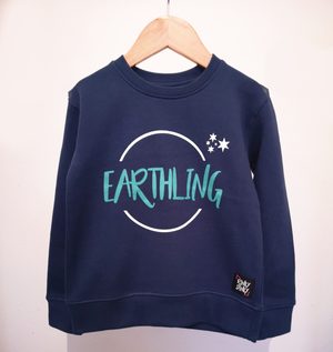 'I Am An Earthling' Sweatshirt - Rinky Dinky London