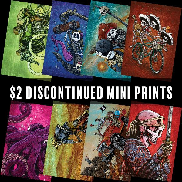 $2 Discontinued Mini Prints by Day of the Dead Artist David Lozeau, Day of the Dead Art, Dia de los Muertos Art, Dia de los Muertos Artist