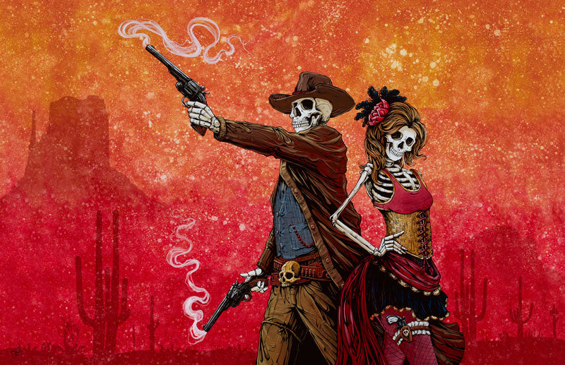 Defending Your Honor by Day of the Dead Artist David Lozeau, Day of the Dead Art, Dia de los Muertos Art, Dia de los Muertos Artist