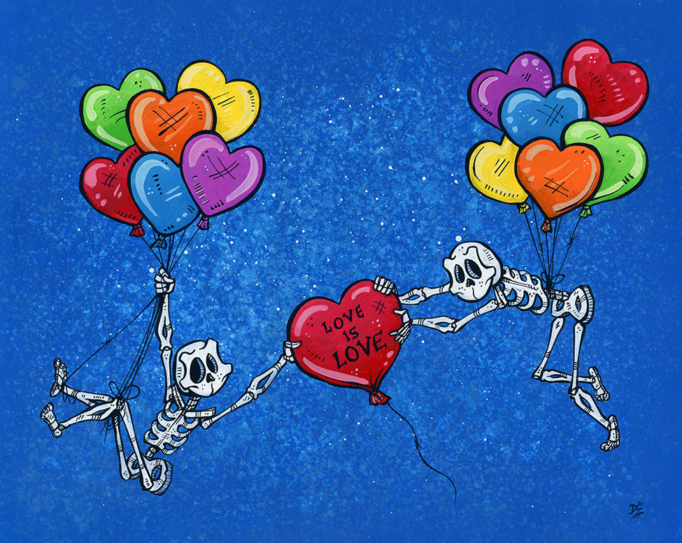 Love Is Love by Day of the Dead Artist David Lozeau