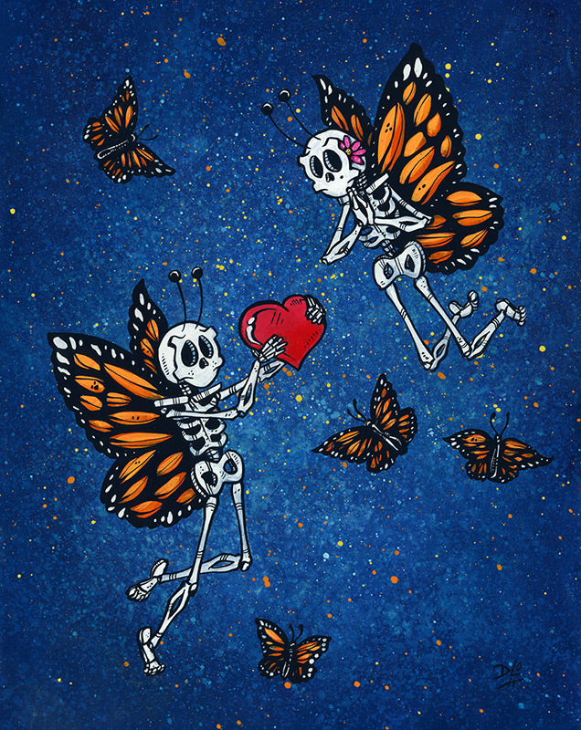 Monarch Mates - Day of the Dead Artist David Lozeau