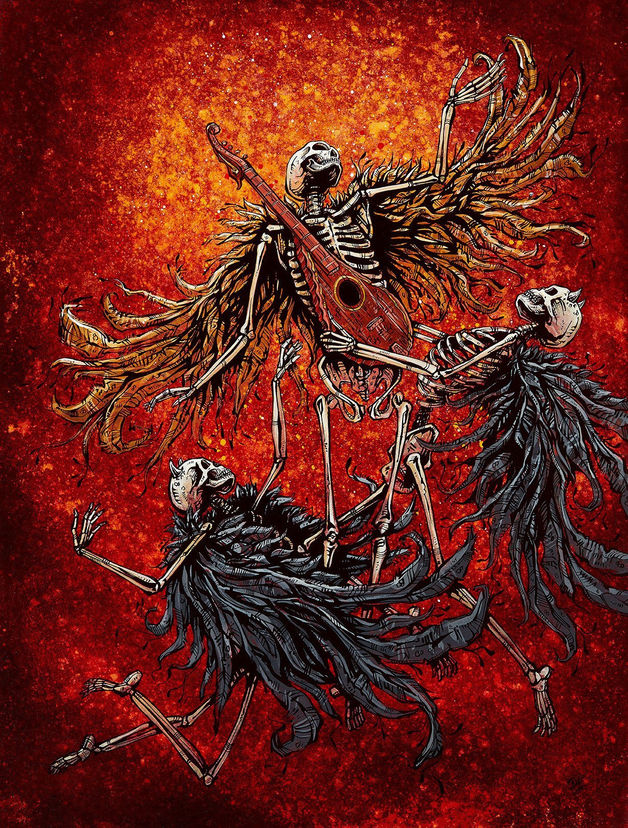 Ascension by Day of the Dead Artist David Lozeau, Day of the Dead Art, Dia de los Muertos Art, Dia de los Muertos Artist