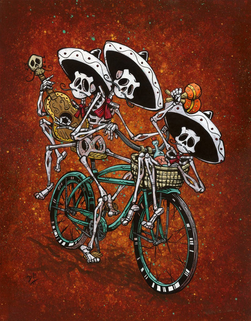 Day of the Dead Artist David Lozeau, Dia de los Muertos, Muertos, Sugar Skull, Calavera, Band on the Run