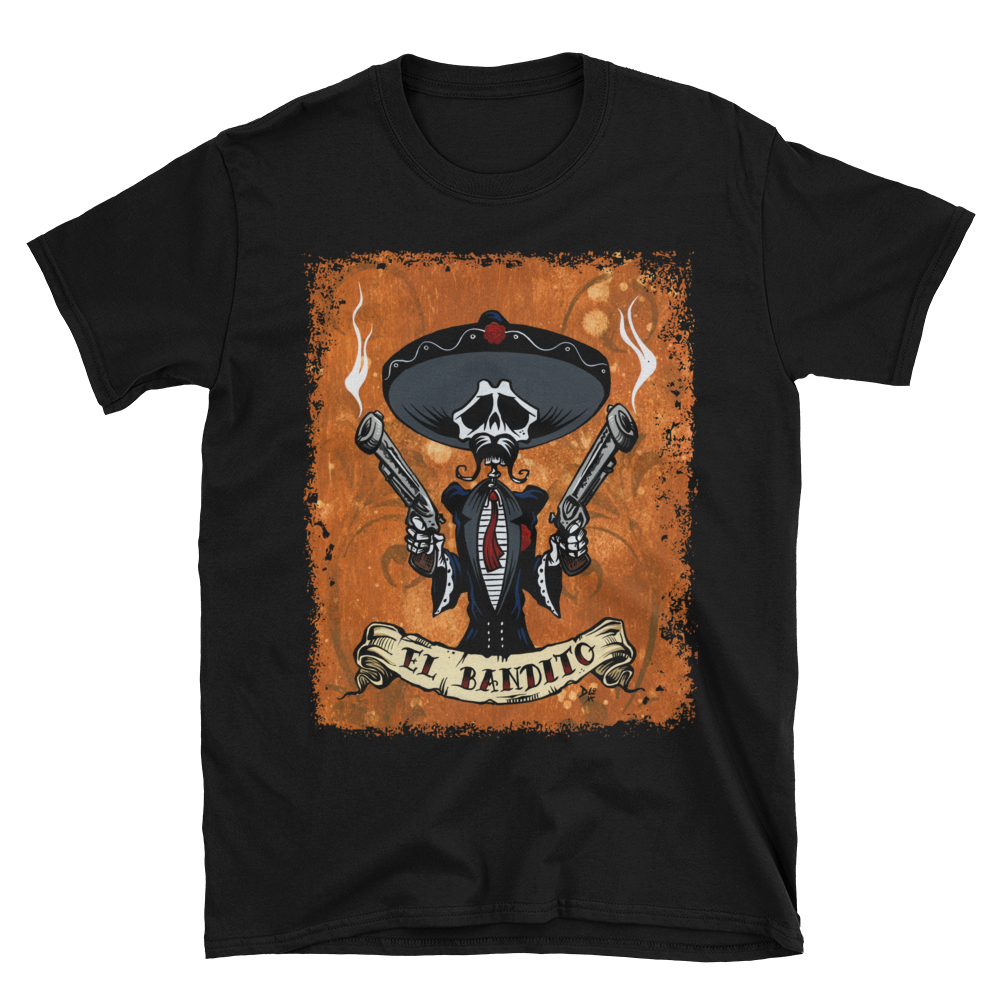 Day of the Dead Artist David Lozeau, Dia de los Muertos, Muertos, Sugar Skull, Calavera, Bandito Shirt