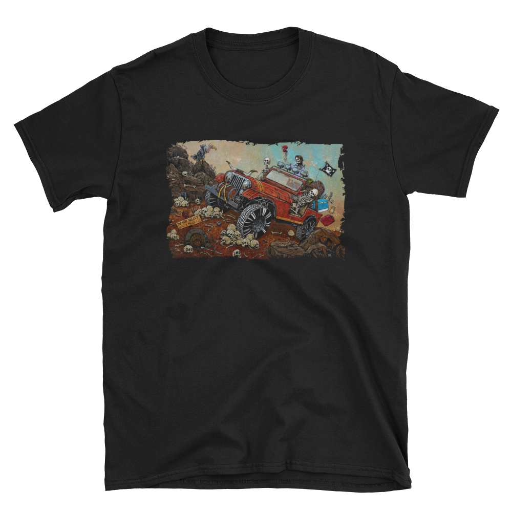 Death Valley Shirt by Day of the Dead Artist David Lozeau, Day of the Dead Art, Dia de los Muertos Art, Dia de los Muertos Artist
