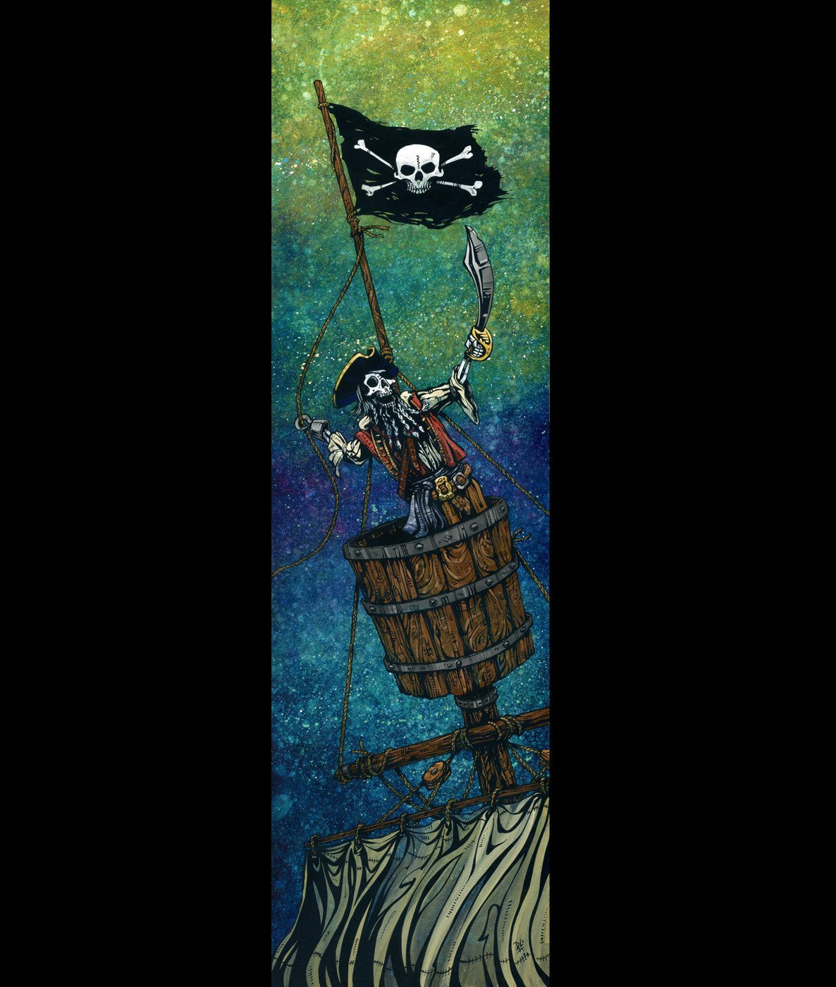 Hoist the Colours by Day of the Dead Artist David Lozeau, Dia de los Muertos, Muertos, Sugar Skull